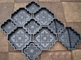 Тротуарная плитка своими руками: формы, расцветки