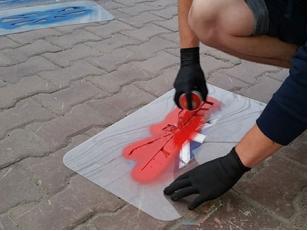 Свойства аэрозольных красок для асфальта и метод их нанесения
