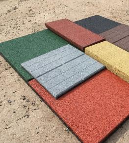 Резиновая плитка - Tricolor