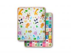 Детский двухсторонний развивающий термоковрик «Животные-Алфавит» 1800*1000*10 мм - интернет-магазин tricolor.com.ua