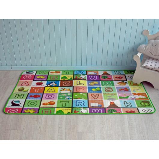 Детский двухсторонний развивающий термоковрик «Алфавит-Футбол» 1800*1000*5 мм - изображение 2 - интернет-магазин tricolor.com.ua