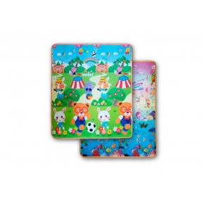 Детский двухсторонний развивающий термоковрик «Футбол-Аквариум» 1800*1000*5 мм - интернет-магазин tricolor.com.ua