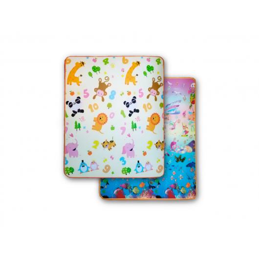 Детский двухсторонний развивающий термоковрик «Животные-Аквариум» 1800*1000*5 мм - интернет-магазин tricolor.com.ua