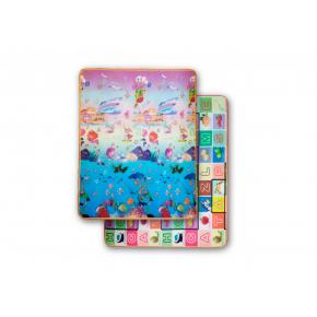 Детский двухсторонний развивающий термоковрик «Аквариум-Алфавит» 1800*1000*5 мм - интернет-магазин tricolor.com.ua