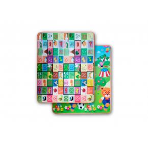 Детский двухсторонний развивающий термоковрик «Алфавит-Футбол» 1800*1500*5 мм - интернет-магазин tricolor.com.ua