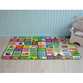 Детский двухсторонний развивающий термоковрик «Животные-Алфавит» 1800*1500*5 мм - изображение 3 - интернет-магазин tricolor.com.ua