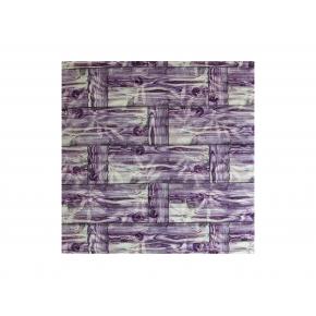 Самоклеящаяся декоративная 3D панель «Бамбук» #51 фиолетовая