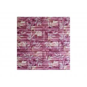 Самоклеящаяся декоративная 3D панель «Бамбук» #52 розовая