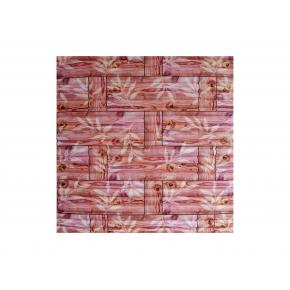 Самоклеящаяся декоративная 3D панель «Бамбук» #54 оранжевая