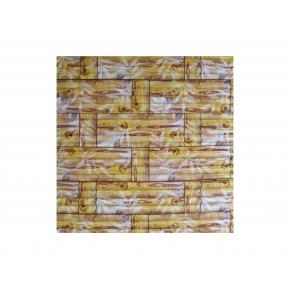 Самоклеящаяся декоративная 3D панель «Бамбук» #56 желтая