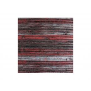 Самоклеящаяся декоративная 3D панель «Бамбук» #74 красно-серая