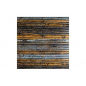 Самоклеящаяся декоративная 3D панель «Бамбук» #75 серо-коричневая