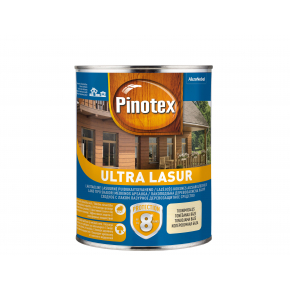 Лазурь фасадная Pinotex Ultra Lasur лаковая с УФ защитой Красное дерево - интернет-магазин tricolor.com.ua