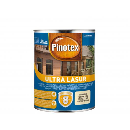 Лазурь фасадная Pinotex Ultra Lasur лаковая с УФ защитой Орех - интернет-магазин tricolor.com.ua