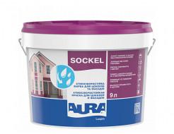 Краска акриловая Aura Luxpro Sockel для цоколя и фасада Белая