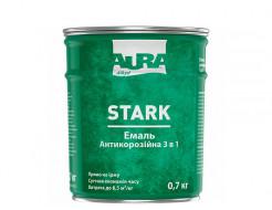 Грунт-эмаль алкидная 3 в 1 Aura Stark антикоррозионная белая