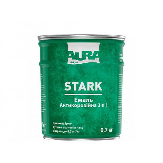 Грунт-эмаль алкидная 3 в 1 Aura Stark антикоррозионная серебристая