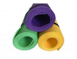Коврик-каремат Izolon Спортик 5 140х50 фиолетовый с резинками