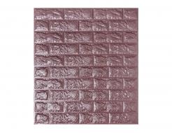 Самоклеющаяся декоративная 3D панель «Кирпич» баклажан-кофе №18 (5 мм)
