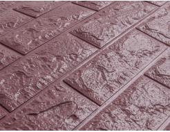 Самоклеящаяся декоративная 3D панель «Кирпич» 5 мм #18 баклажан-кофе - изображение 2 - интернет-магазин tricolor.com.ua