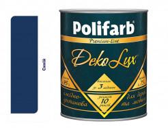 Алкидно-уретановая эмаль DekoLux для дерева и металла Polifarb глянцевая синяя (АКЦИЯ!)