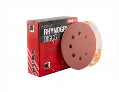 Диски на 8 отверстий Rhynogrip Red Line Indasa 125 мм P100 - изображение 2 - интернет-магазин tricolor.com.ua