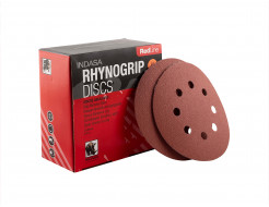 Диски на 8 отверстий Rhynogrip Red Line Indasa 125 мм P120 - изображение 3 - интернет-магазин tricolor.com.ua