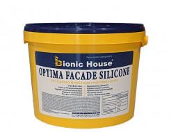 Краска фасадная Bionic House Optima Facade silicone силиконовая белая матовая самоочищающаяся