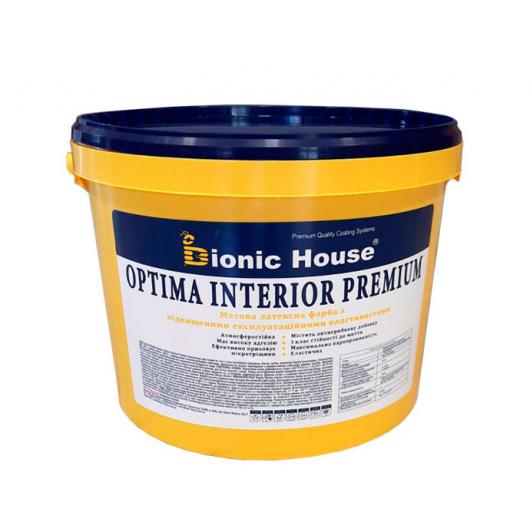 Краска интерьерная Bionic House Optima Interior premium эластичная белая матовая