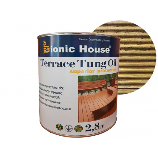 Масло террасное Bionic House Terrace Tung oil с тунговым маслом Дуб - интернет-магазин tricolor.com.ua