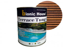 Масло террасное Bionic House Terrace Tung oil с тунговым маслом Орех - интернет-магазин tricolor.com.ua