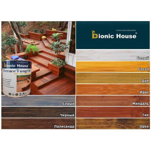 Масло террасное Bionic House Terrace Tung oil с тунговым маслом Тик - изображение 3 - интернет-магазин tricolor.com.ua