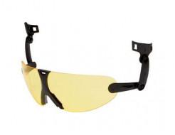 Очки 3M V9A встроенные желтые Hard Hat Integrated с защитой от царапин и запотевания - интернет-магазин tricolor.com.ua