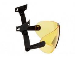 Очки 3M V9A встроенные желтые Hard Hat Integrated с защитой от царапин и запотевания - изображение 3 - интернет-магазин tricolor.com.ua