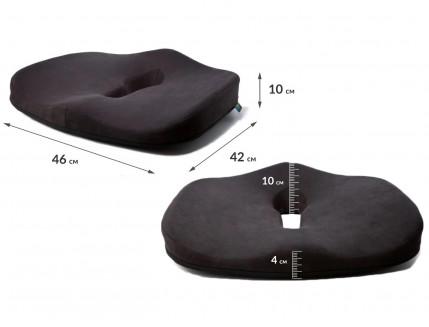 Подушка ортопедическая Correct Shape Max comfort для сидения 46х42/10 Графит - изображение 2 - интернет-магазин tricolor.com.ua