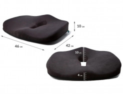 Подушка ортопедическая Correct Shape Max comfort для сидения 46х42/10 Серая - изображение 3 - интернет-магазин tricolor.com.ua