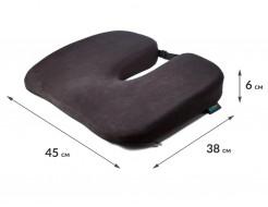 Подушка ортопедическая Correct Shape Model 1 для сидения 45х38/6 Графит - изображение 2 - интернет-магазин tricolor.com.ua