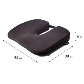 Подушка ортопедическая Correct Shape Model 1 для сидения 45х38/6 Оливковая - изображение 2 - интернет-магазин tricolor.com.ua