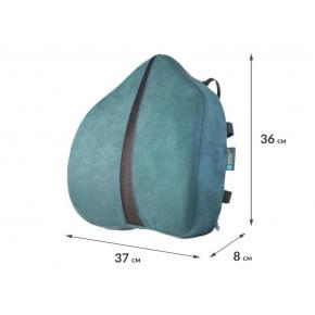 Подушка ортопедическая Correct Shape Correct line max под поясницу 37х36/8 Изумрудная - изображение 2 - интернет-магазин tricolor.com.ua