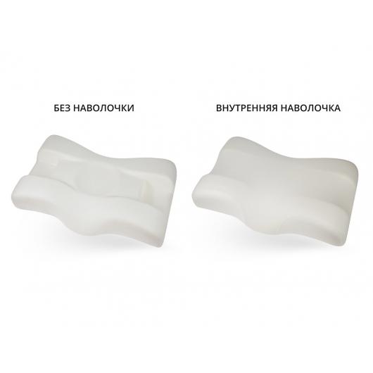 Подушка ортопедическая Correct Shape Beauty balance 36х56/11,5х12,5 Тенсел Розовая - изображение 2 - интернет-магазин tricolor.com.ua