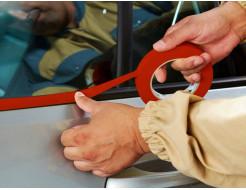 Лента для оклеивания Indasa Masking Type 18 мм*50 м 100°С красная - изображение 2 - интернет-магазин tricolor.com.ua