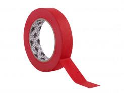 Лента для оклеивания Indasa Masking Type 24 мм*50 м 100°С красная - интернет-магазин tricolor.com.ua