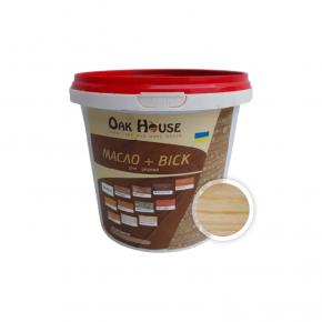 Масло-воск для дерева Oak House Прозрачное водоотталкивающее с защитой от грибка - интернет-магазин tricolor.com.ua