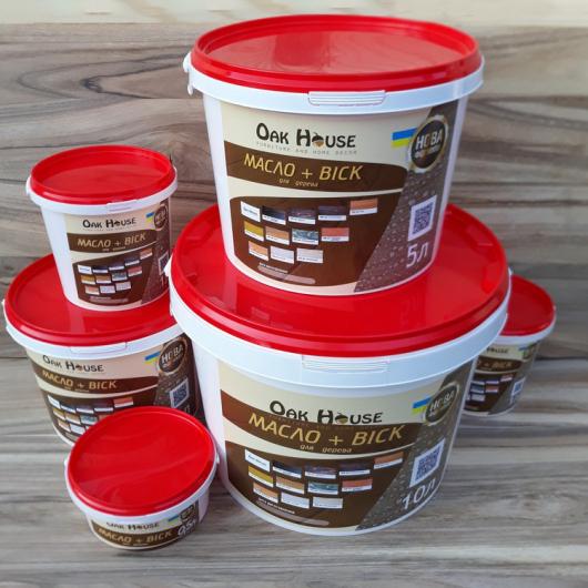 Масло-воск для дерева Oak House Эбеновое дерево водоотталкивающее с защитой от грибка - изображение 3 - интернет-магазин tricolor.com.ua