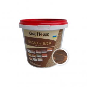 Масло-воск для дерева Oak House Венге водоотталкивающее с защитой от грибка - интернет-магазин tricolor.com.ua