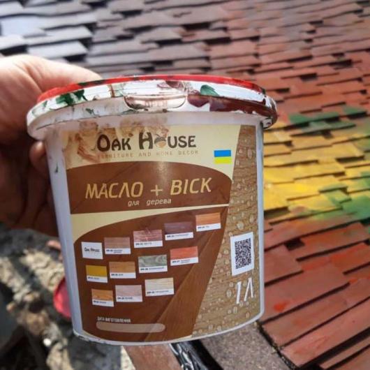 Масло-воск для дерева Oak House Венге водоотталкивающее с защитой от грибка - изображение 3 - интернет-магазин tricolor.com.ua