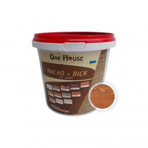 Масло-воск для дерева Oak House Тик водоотталкивающее с защитой от грибка - интернет-магазин tricolor.com.ua