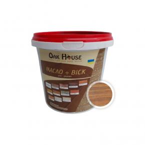 Масло-воск для дерева Oak House Дуб водоотталкивающее с защитой от грибка - интернет-магазин tricolor.com.ua