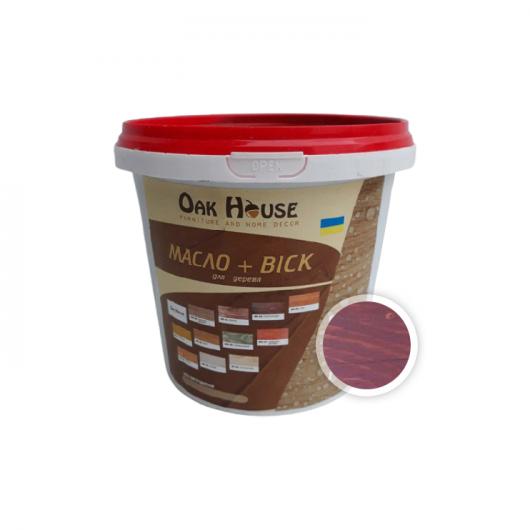 Масло-воск для дерева Oak House Красное дерево водоотталкивающее с защитой от грибка - интернет-магазин tricolor.com.ua
