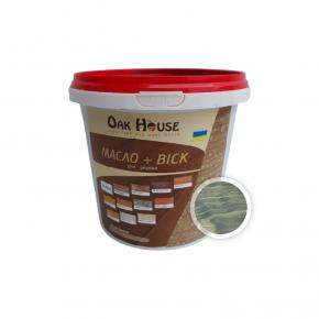Масло-воск для дерева Oak House Оливковое водоотталкивающее с защитой от грибка - интернет-магазин tricolor.com.ua